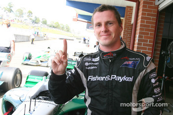 Jonny Reid, driver of A1 Team New Zealand gets pole position for the feature race