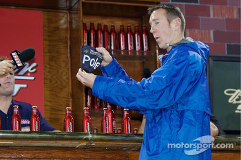 Kurt Busch draws the pole winning bottle