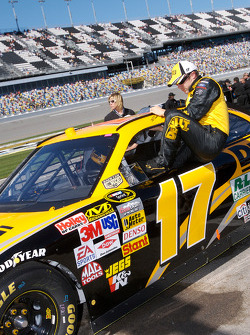 Matt Kenseth after his qualifying run