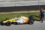 Nelson A. Piquet, Renault F1 Team, R28, Stopped on track