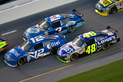 Ryan Newman, Kurt Busch and Jimmie Johnson