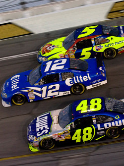 Casey Mears, Ryan Newman and Jimmie Johnson
