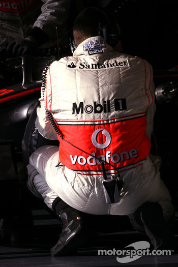 McLaren Mercedes mechanic