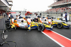 Both Renault cars back