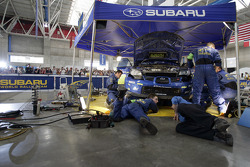 SWRT technicians at work in the Poliforum Service Park