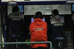 Fiat Yamaha team pit wall