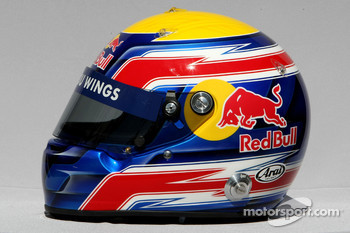 Mark Webber, Red Bull Racing, helmet