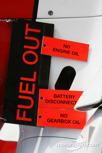 Fuel Out Sign