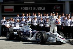 BMW Sauber F1 photoshoot: Robert Kubica,  BMW Sauber F1 Team