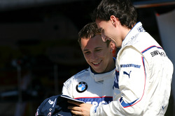 BMW Sauber F1 photoshoot: Robert Kubica, BMW Sauber F1 Team, Christian Klien, Test Driver, BMW Sauber F1 Team