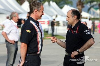 Team manager Jonathan Wheatley and team principal Franz Tost