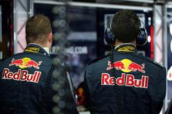 Red Bull Racing crew members