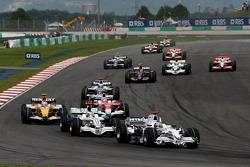 Nick Heidfeld, BMW Sauber F1 Team, F1.08 and Jenson Button, Honda Racing F1 Team, RA108