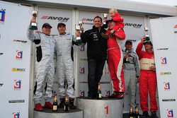 GT3 podium: Hector Lester and Allan Simonsen celebrate win