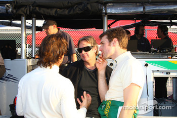 Oriol Servia, Jimmy Vasser and Will Power