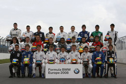 Formula BMW Europe 2008, Drivers Group Picture