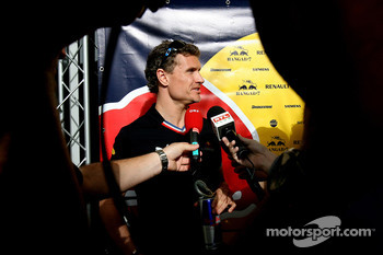 David Coulthard gives interviews