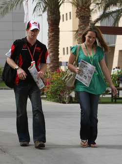 Anthony Davidson, Super Aguri F1 Team with his wife Carrie