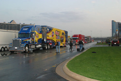 NASCAR Sprint Cup Haulers enter Texas Motor Speedway