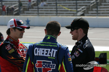 Jeff Gordon, Casey Mears and Brian Vickers