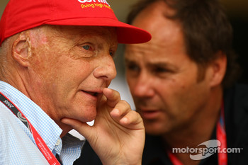 Niki Lauda, Former F1 world champion and RTL TV and Gerhard Berger, Scuderia Toro Rosso, 50% Team Co Owner