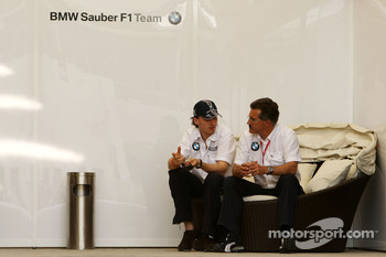 Robert Kubica, BMW Sauber F1 Team and Dr. Mario Theissen, BMW Sauber F1 Team, BMW Motorsport Director
