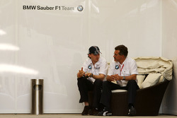 Robert Kubica, BMW Sauber F1 Team and Dr. Mario Theissen, BMW Sauber F1 Team, BMW Motorsport Director