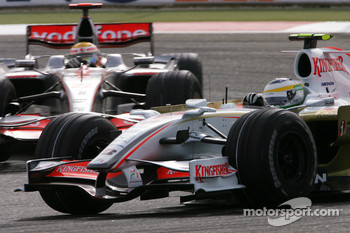 Giancarlo Fisichella, Force India F1 Team, Lewis Hamilton, McLaren Mercedes