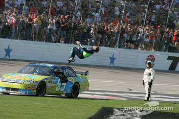 Back flip for Carl Edwards