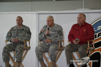 Members of the U.S. Army National Guard were guests of Panther Racing and the Indianapolis Motor Speedway at the Media Tour