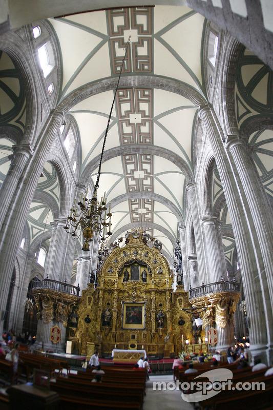 The interior of the Mexico City Metropolitan Cathedral in Mexico City at Mexico City