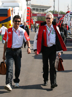 Aguri Suzuki, Super Aguri F1 and Daniele Audetto, Super Aguri F1 Team