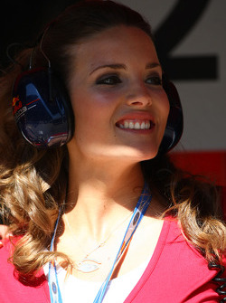 A girl in the Red Bull Racing garage