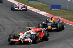 Giancarlo Fisichella, Force India F1 Team, David Coulthard, Red Bull Racing