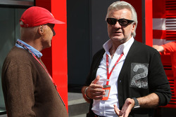 Niki Lauda, Former F1 world champion and RTL TV and Willi Weber, Driver Manager