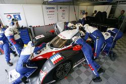 Team Peugeot Total pit box