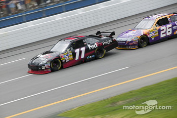 Denny Hamlin takes the lead