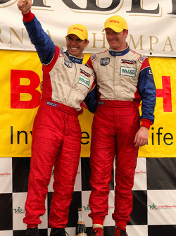 GT podium: class winners Andrew Davis and Robin Liddell