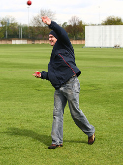 Jonathan Summerton, driver of A1 Team USA at the Kent County Cricket ground