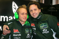 Adam Carroll, driver of A1 Team Ireland and Mark Kershaw, Seat Holder of A1 Team Ireland