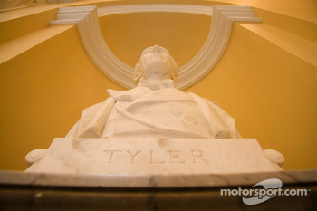 The capital of Virginia, Richmond: John Tyler Statue inside of the State Capitol in Richmond