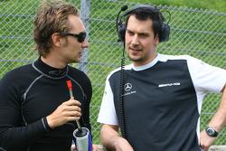 Mathias Lauda, Persson Motorsport AMG Mercedes, AMG Mercedes C-Klasse and Valentino Conti, race engineer Mathias Lauda