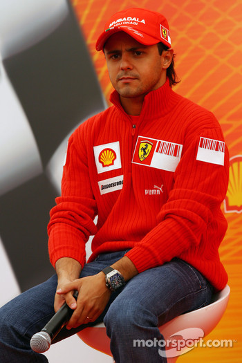 Felipe Massa, Scuderia Ferrari, Shell Press Conference