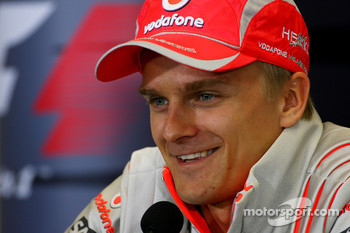 FIA press conference: Heikki Kovalainen, McLaren Mercedes