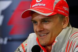 FIA press conference: Heikki Kovalainen, McLaren Mercedes