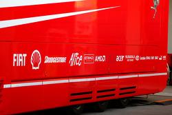 Scuderia Ferrari, truck without Martini branding