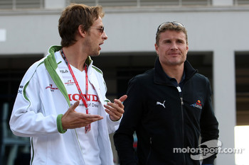 Jenson Button, Honda Racing F1 Team, David Coulthard, Red Bull Racing