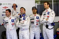 Jacques Villeneuve, Nicolas Minassian, Pedro Lamy and Alexander Wurz