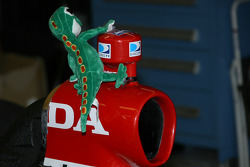 Stuff animal adorns IndyCar camera mount