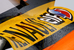 Renault R28 engine cover detail